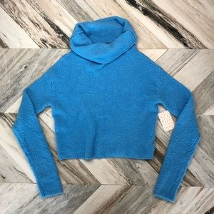 NWT Free People Stormy Cowl Neck Crop Sweater XS